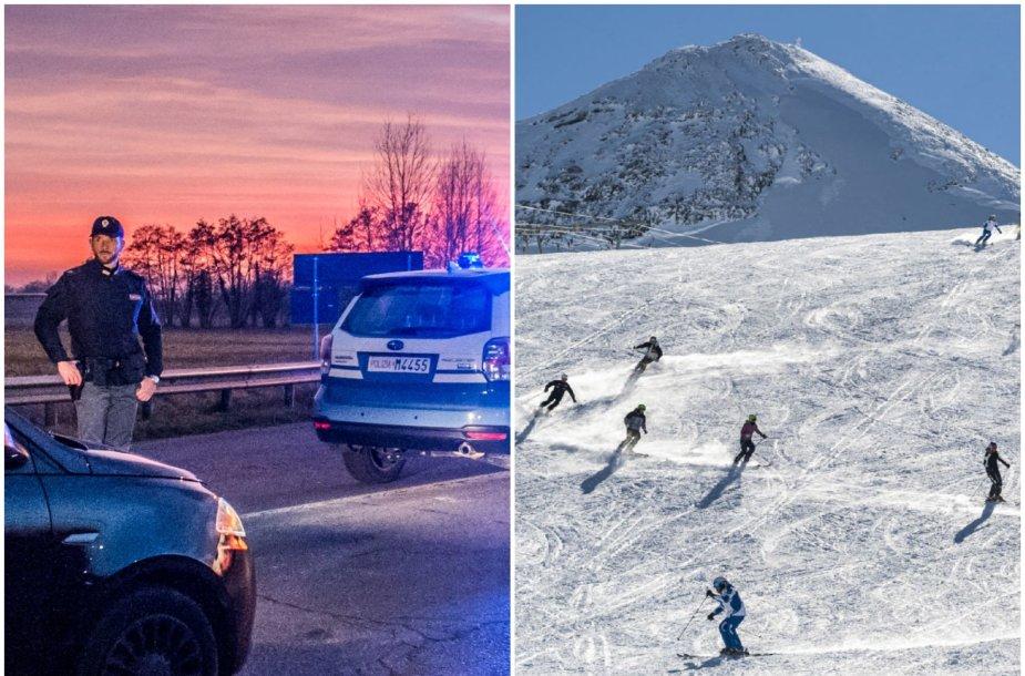Livinjo slidinėjimo kurortas – Lombardijoje, kur karantinuota keliolika miestelių