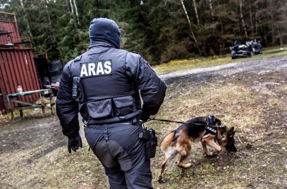"""Antiteroristinės rinktinės """"Aras"""" išminuotojas"""
