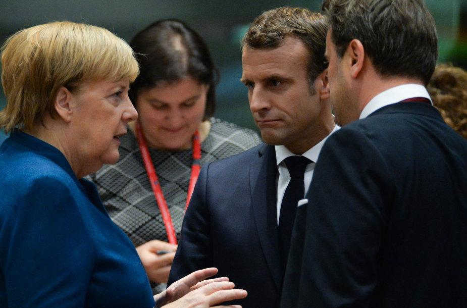 Angela Merkel, Emmanuelis Macronas, Xavieras Bettelis