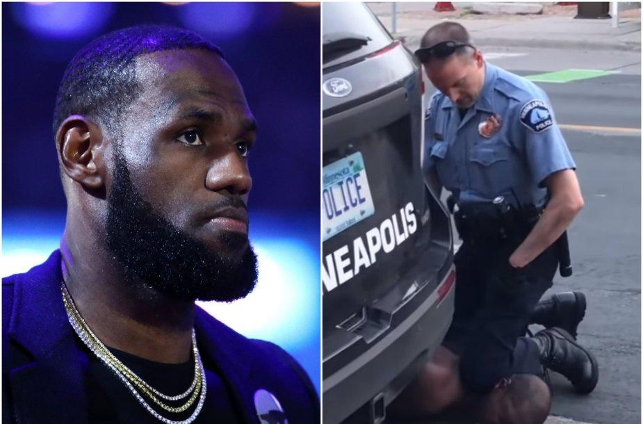 LeBronas Jamesas pasipiktino policijos veiksmais