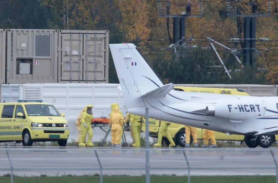 Į Norvegiją atgabenta Ebolos virusu užsikrėtusi moteris