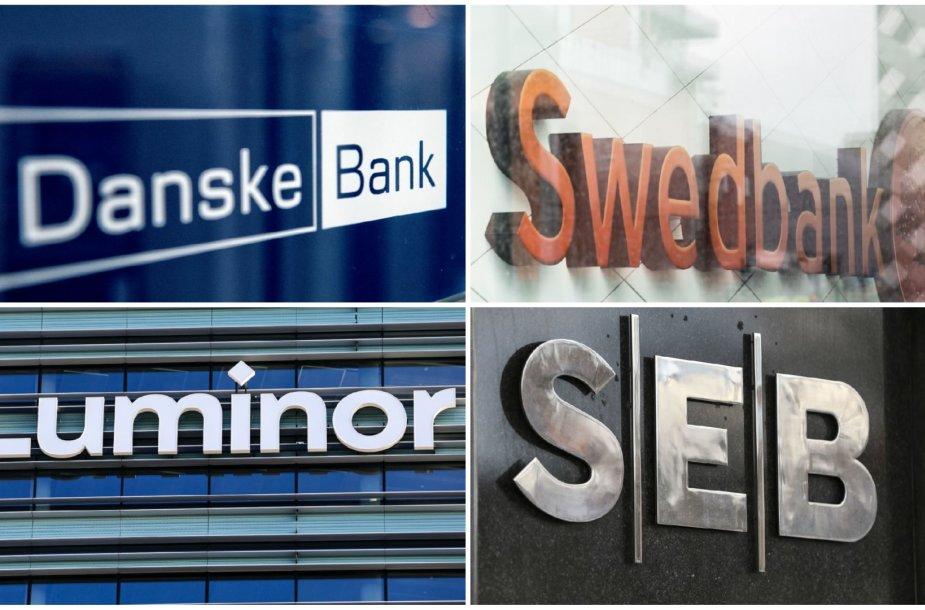 """SEB"", ""Swedbank"", ""Danske Bank"" ir ""Luminor"""