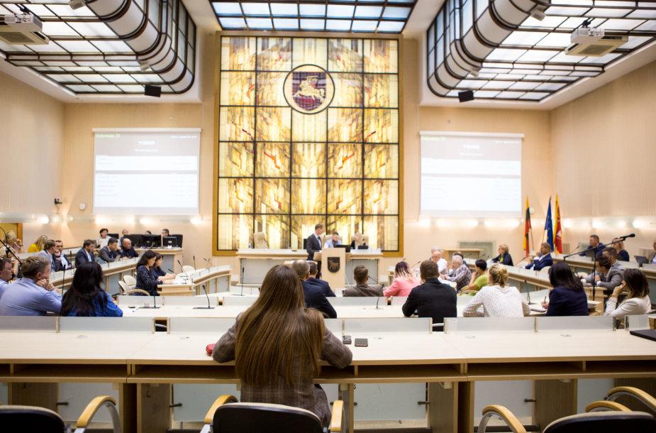 Kauno miesto savivaldybės tarybos posėdis didžiojoje salėje