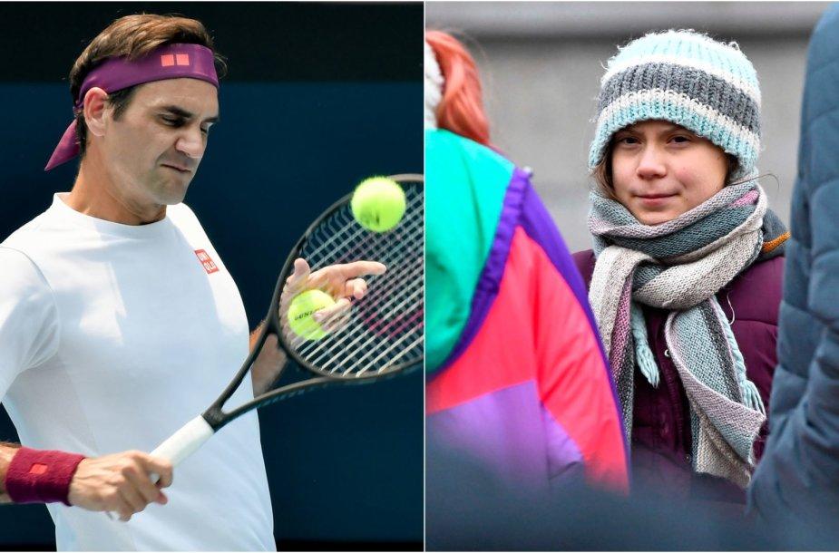 Rogeris Federeris gynėsi nuo Gretos Thunberg kritikos