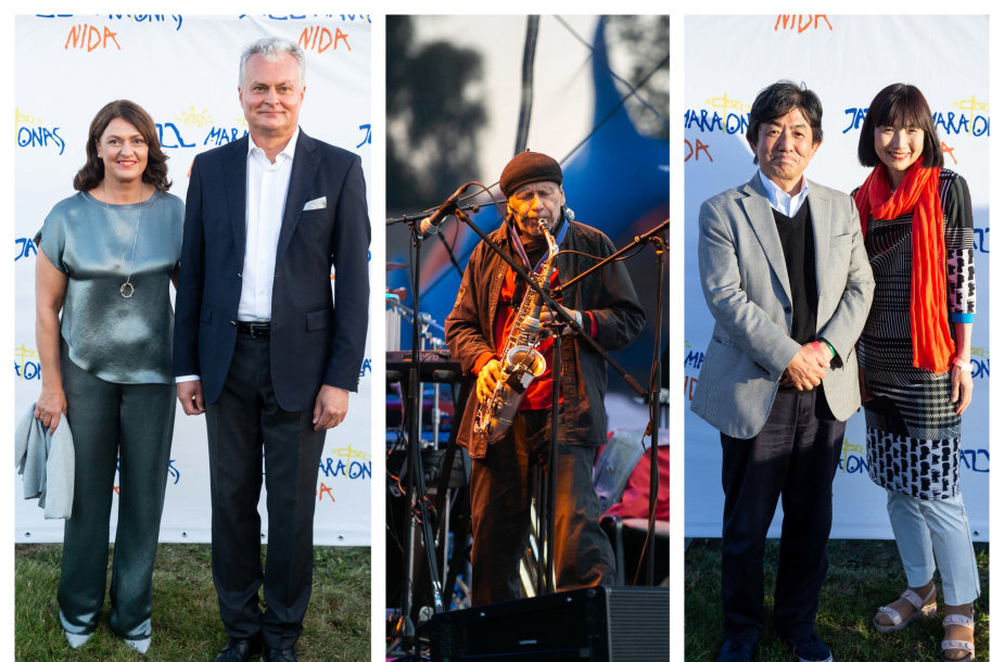 Diana Nausėdienė, Gitanas Nausėda, koncerto akimirka, Japonijos ambasadorius Shiro Yamasaki su žmona Yuko
