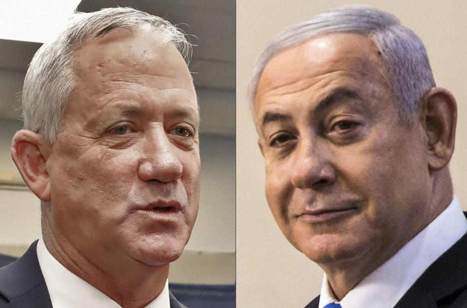 Benny Gantzas ir Benjaminas Netanyahu