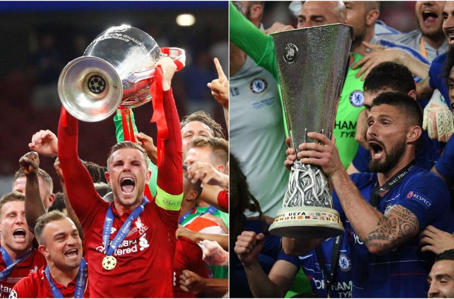 Anglijos futbolo milžinai kausis dėl UEFA Supertaurės