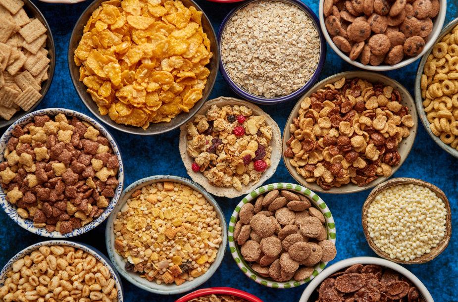 Sausų pusryčių įvairovė