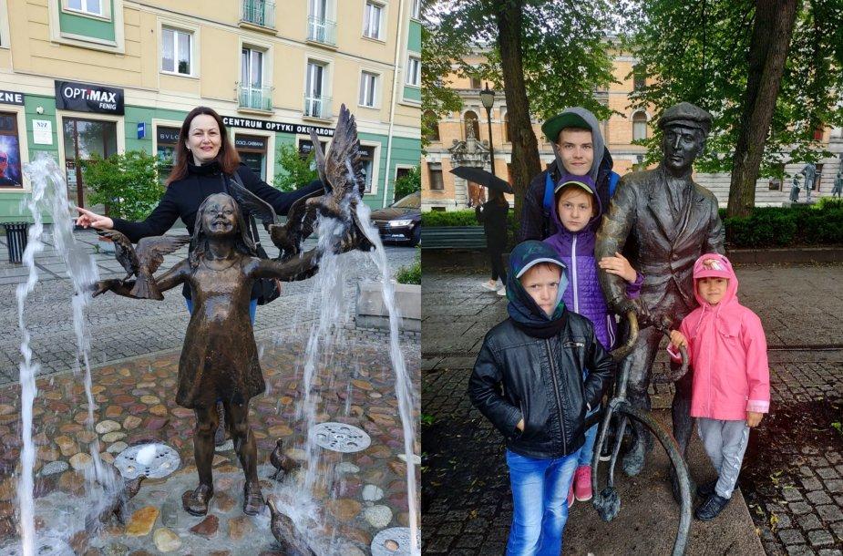 Renata Rudzevičienė su vaikais