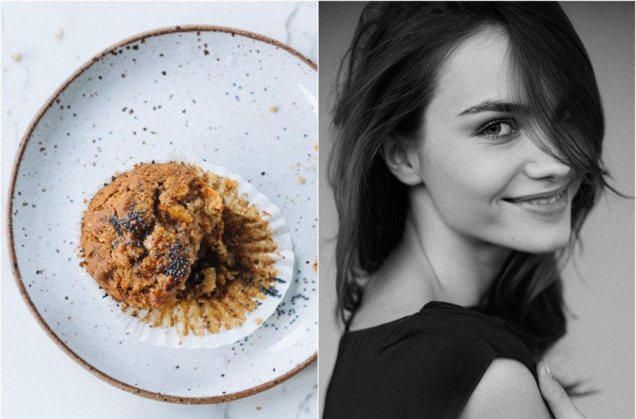 Julija Steponavičiūtė ir jos kepti morkų keksiukai