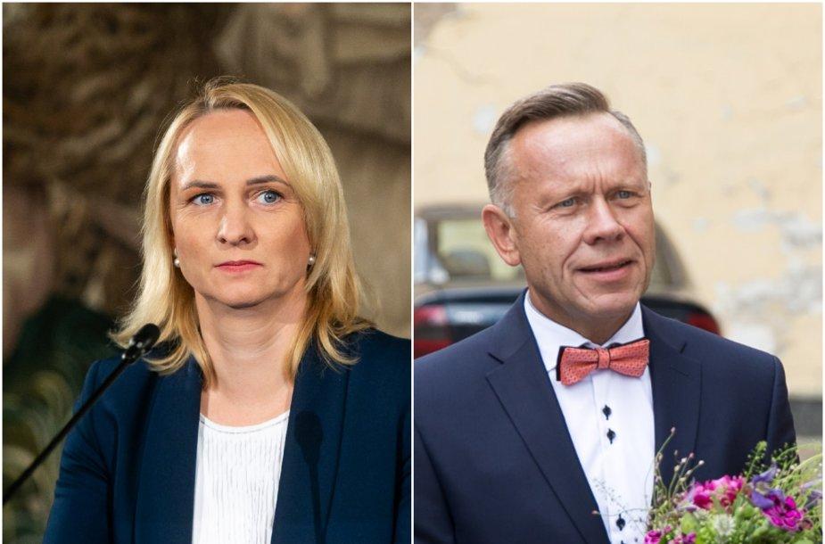 Edita Rudelienė ir Antanas Čepononis