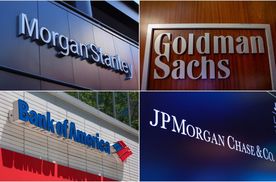"""Morgan Stanley"", ""Goldman Sachs"", ""Bank of America"", ""JPMorgan Chase & Co."""