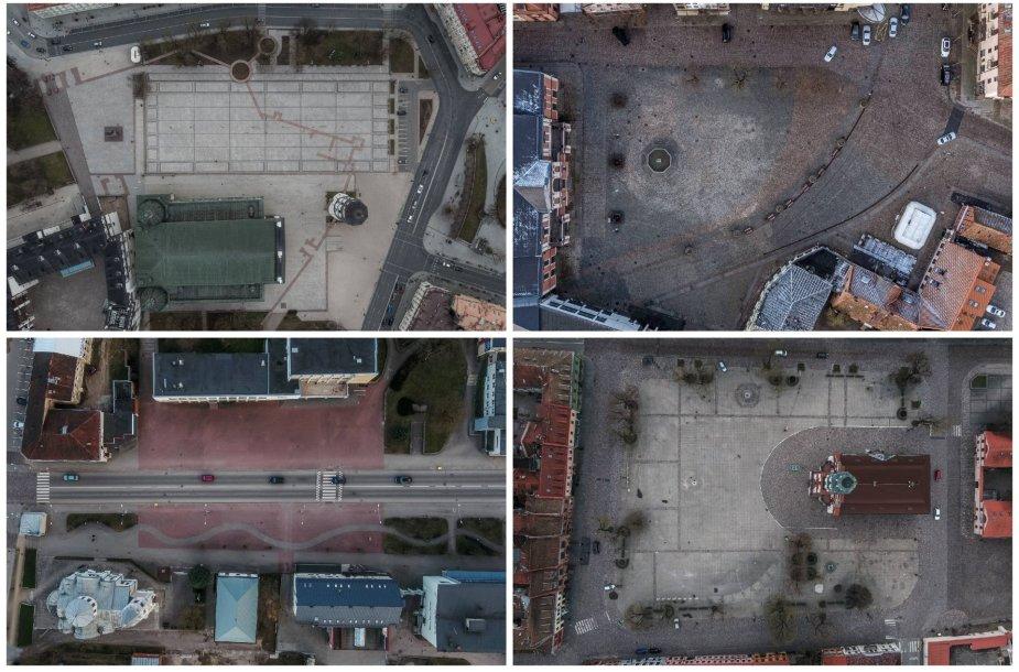 Atidaromoje A.Repšio parodoje – 18:08 val. dronu užfiksuota karantininė Lietuva