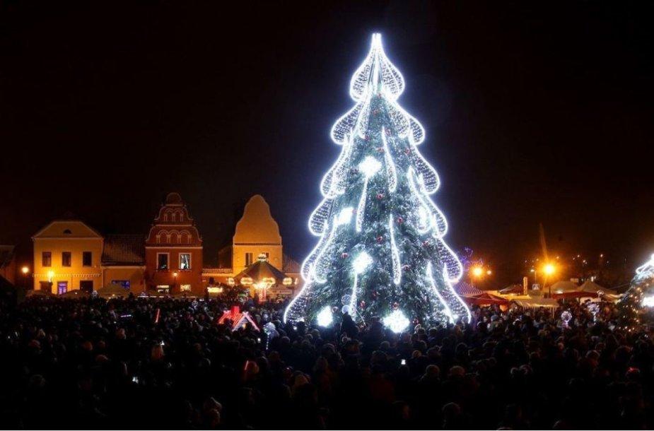 Kėdainių Kalėdų eglė 2018 metais