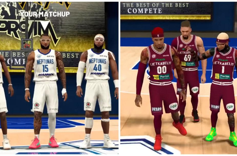 """Draugiškos """"Lietkabelio"""" ir """"Neptūno"""" """"NBA 2K20"""" rungtynės"""