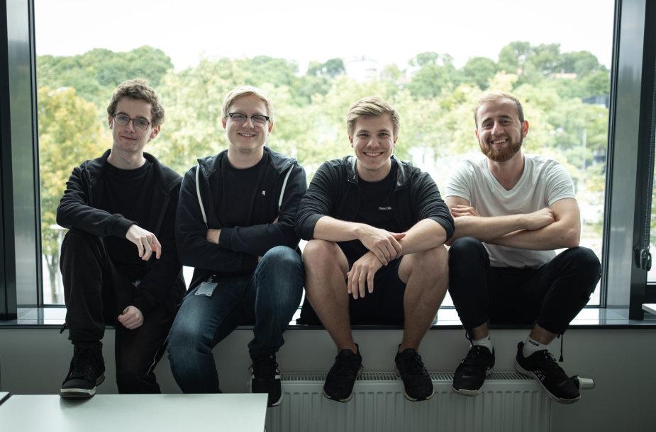 Iš kairės: Leon Corbally, Simon Ruud, Emil Hustvedt, Alex Ludqvist