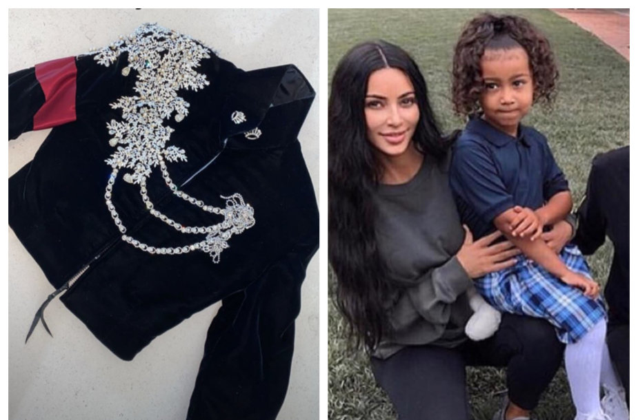 Michaelo Jacksono švarkas, Kim Kardashian su dukra North West