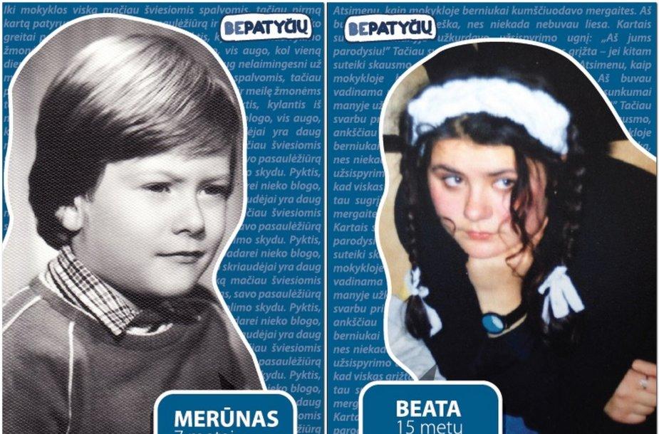 Merūnas Vitulskis ir Beata Nicholson vaikystėje