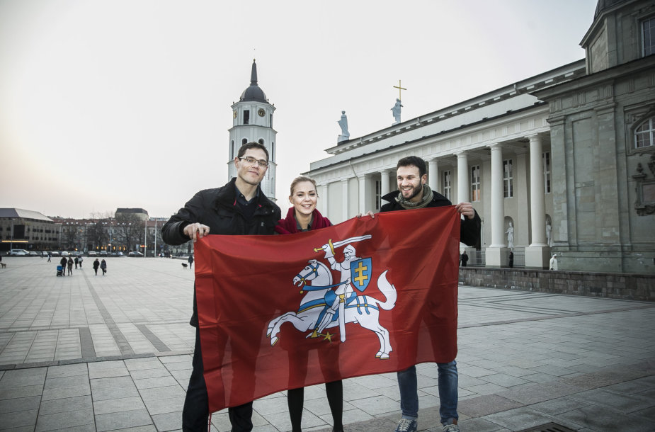 Tomas Perkūnas, Monika Linkytė ir Vaidas Baumila