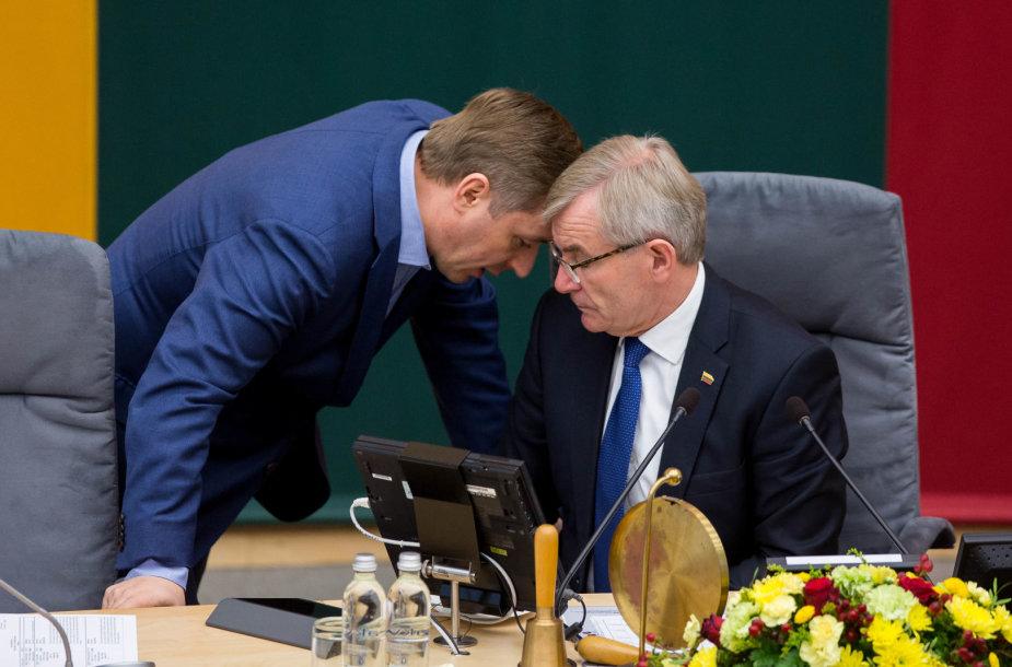 Ramūnas Karbauskis ir Viktoras Pranckietis