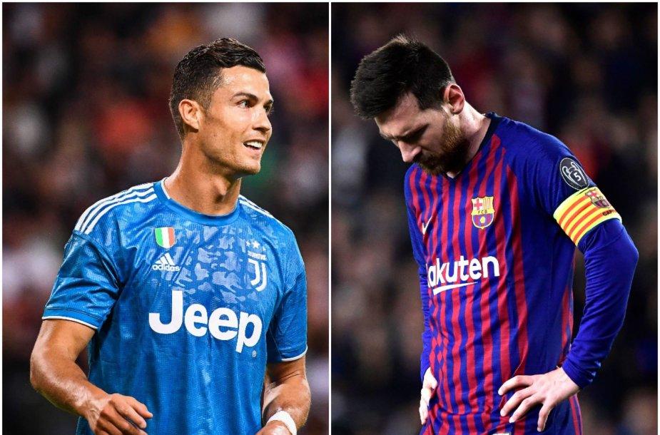 Cristano Ronaldo ir Lionelis Messi