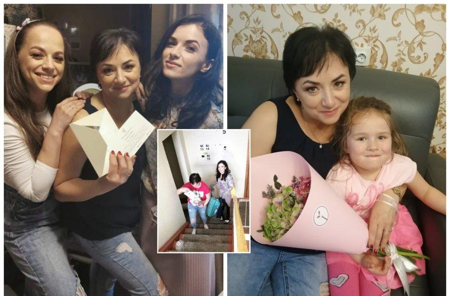 Irūna ir Ineta Puzaraitės 50-mečio proga surengė staigmeną mamai