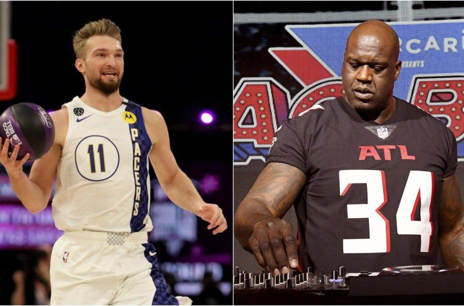 Shaqas (dešinėje) įsitikinęs, kad Domantas Sabonis laimės NBA įgūdžių konkursą