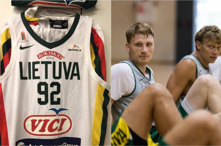 Lietuvos rinktinė žais su naujo dizaino marškinėliais