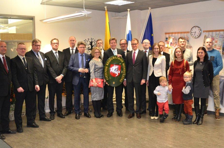 Suomijoje, Kuopijo mieste atidarytas Lietuvos garbės konsulatas