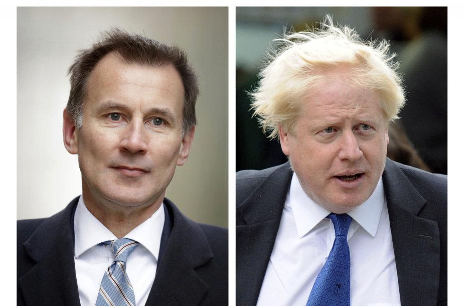 Jeremy Huntas ir Borisas Johnsonas
