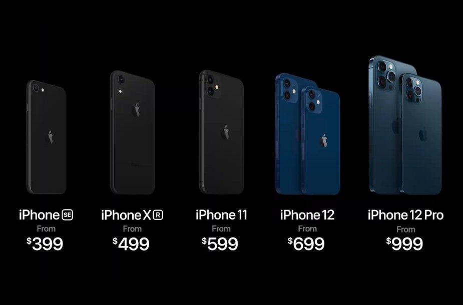 """Visų """"iPhone 12"""" modelių kainos"""
