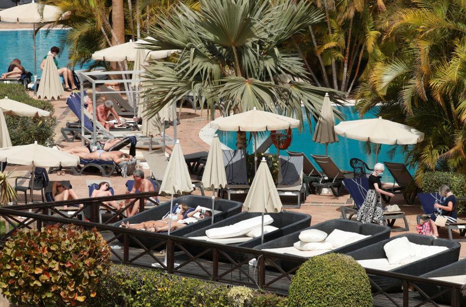 """Karantinuotas """"H10 Costa Adeje Palace"""" viešbutis"""