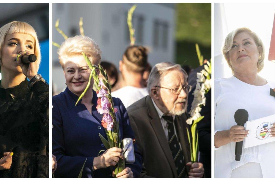 Raminta Naujanytė-Bjelle, Dalia Grybauskaitė ir Vytautas Landsbergis, Edita Mildažytė