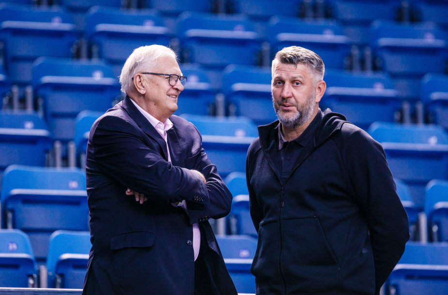 Dariaus Maskoliūno ir Estijos krepšinio federacijos prezidento susitikimas