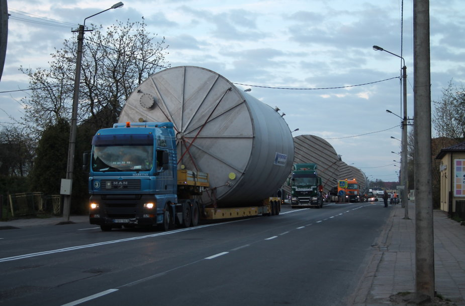 Krovinio gabenimas per Panevėžį