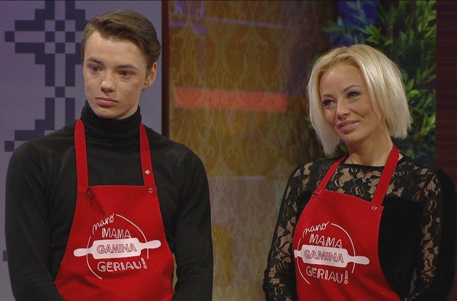 Vilija Pilibaitytė-Mia su sūnumi Matu