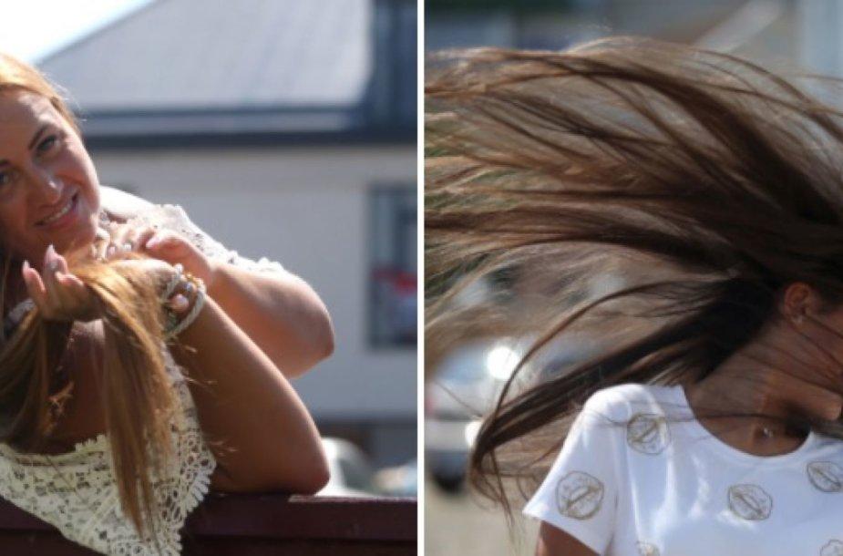 Kėdainietės Orinta Markauskienė ir Austėja Markauskaitė tikina, kad ilgi plaukai suteikia daugiau džiaugsmo