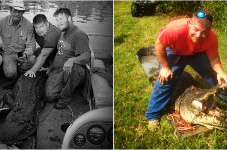 Aligatorių medžioklė Luizianoje
