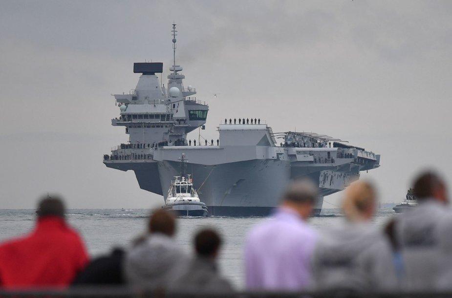 """Lėktuvnešis  """"HMS Queen Elizabeth"""""""