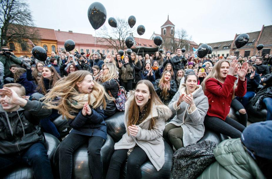 Kauniečiai šventė Europos kultūros sostinės vardo suteikimą