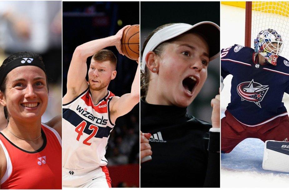 Latvijos sporto žvaigždės: A.Sevastova, D.Bertanis, A.Ostapenko ir E.Merzlikinas.