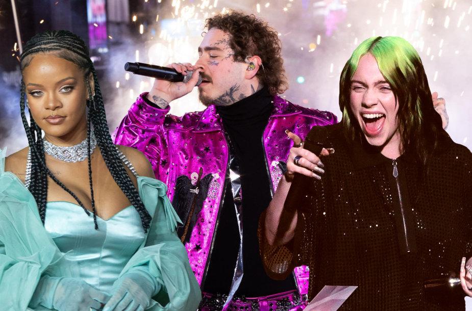 Rihanna, Post Malone, Billie Eilish