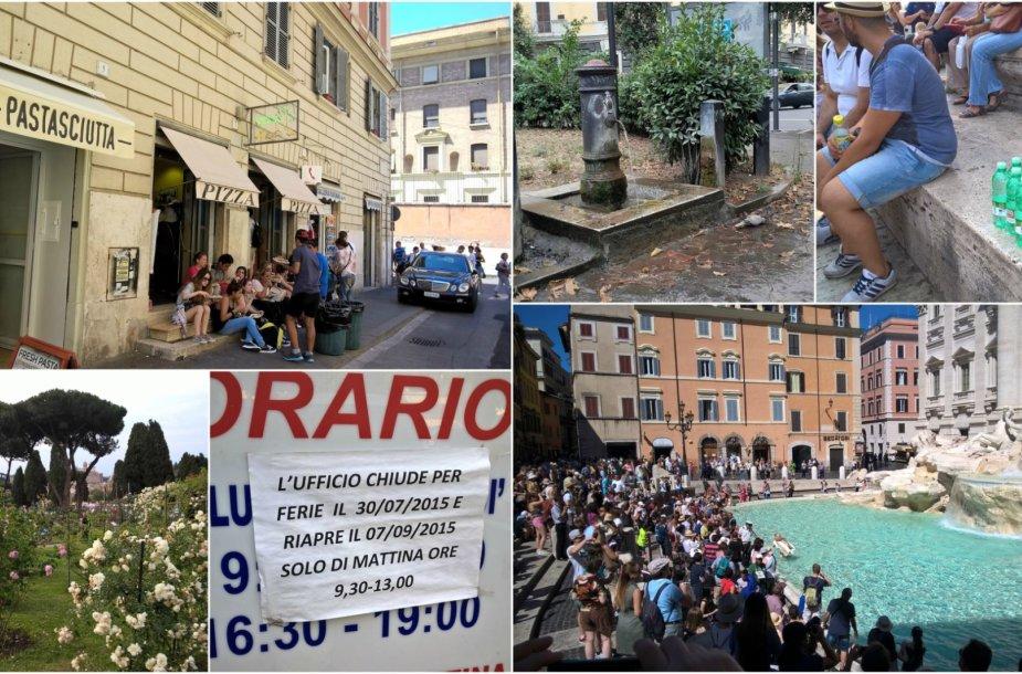 Roma vasarą pasitinka karščiu