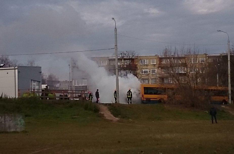 Žvėryne degė autobusas