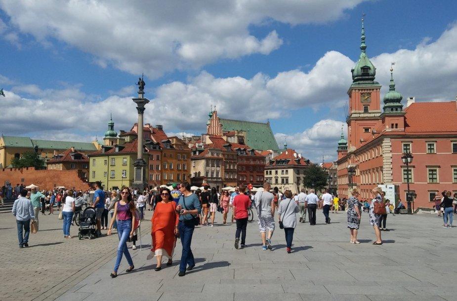 Varšuvos pilies ir senamiesčio panorama
