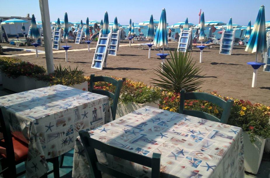 Privatus paplūdimys ties Roma