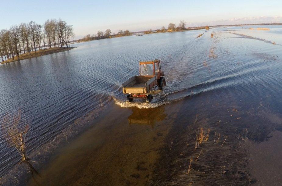 Potvynis pamaryje