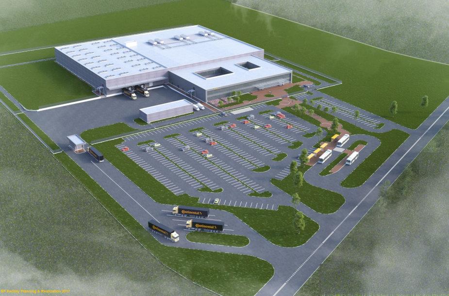 Continental gamyklos Kaune vizualizacija