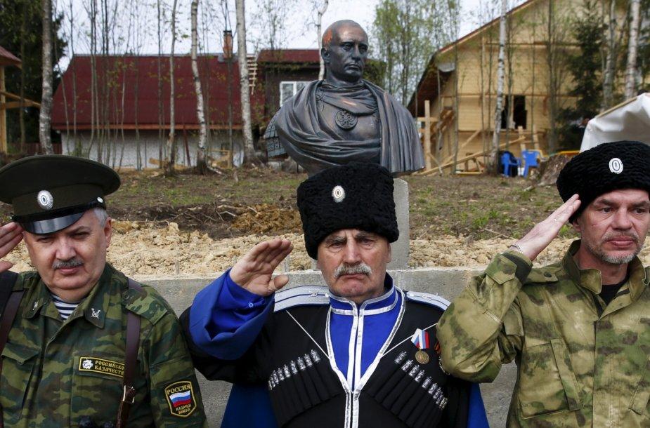 Gegužės 16 diena. Kazokai atidengė imperatorišką Vladimiro Putino biustą