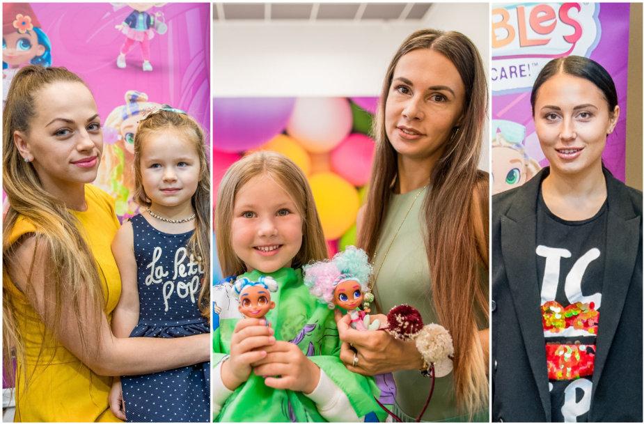 Ineta Puzaraitė-Žvagulienė su dukra Barbora, Veronika Montvydienė su dukra Adele, Gabrielė Grygolaitytė-Vasha